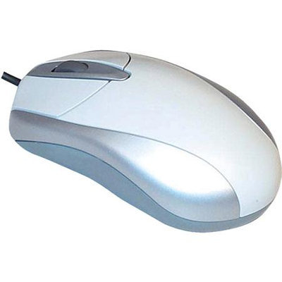 Jasco 97986 Wired Optical Mouse in White for PCs