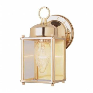Portfolio 9-in H Polished Brass Outdoor Wall Light 4045PB