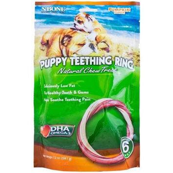 N-Bone Pumpkin Flavor Puppy Teething Rings 6 Pk