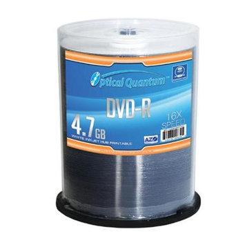 Optical Quantum 16X 4.7GB DVD-R AZO DVD-R Blank Media White Inkjet Hub Printable