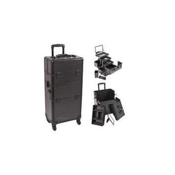 Sunrise Cases Sunrise I3561PPAB Black Smooth Trolley Makeup Case