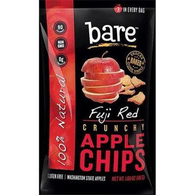 Bare Fruit APPLE CHIPS, OG1, FUJI RED, (Pack of 12)