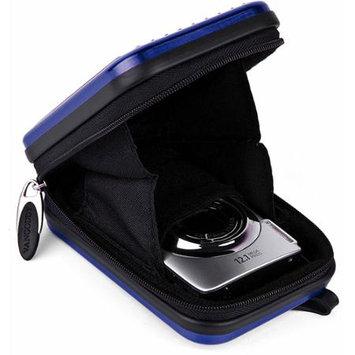 VanGoddy Royal Blue Metallic Pascal Hardshell Aluminum Cube for Digital Cameras