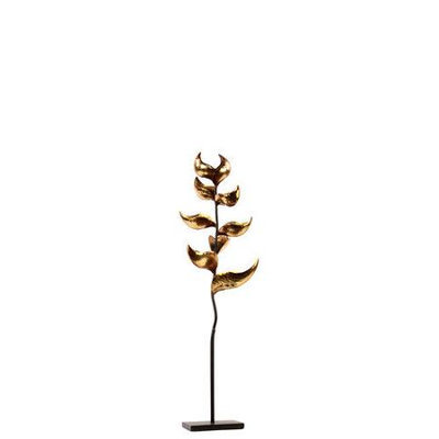 Urban Trends Collection 67018 Metal Plant Candle Holder Gold Small