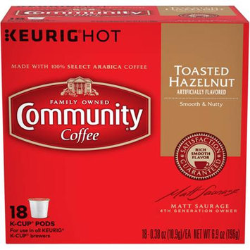 Community Coffee for Keurig(R) K-Cup(R) Brewers - Hazelnut - 18ct Box