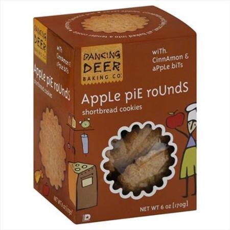 Dancing Deer Baking Co Dancing Deer 6 oz. Cookies Apple Pie Rounds Shortbread Box Case Of 12