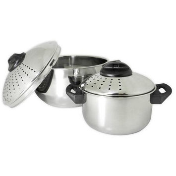 Prime Pacific PPD019 Set of 2 Stainless Steel Pasta Pots
