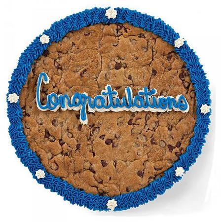 Mrs. Fields Semi-Sweet Chocolate Chip Congratulations Cookie Cake