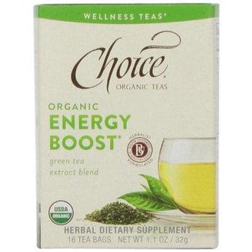 Choice Organic Teas - Wellness Teas Energy Boost - 16 Tea Bags