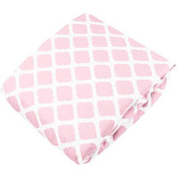 Babies R Us Kushies Fitted Crib Sheet - Pink Lattice