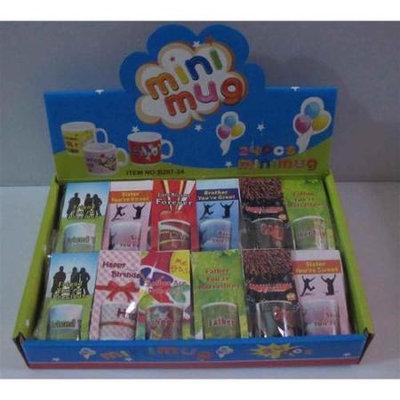 Creative Motion 13607 24 - Piece Message Mini Mug with a Display Tray