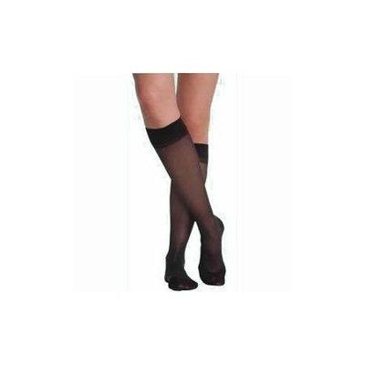 Sigvaris Cotton 232CMLW99-S 20-30 mmHg Womens With Grip Top Socks Black - Medium Long