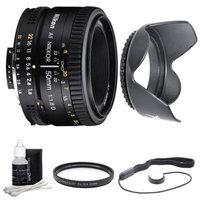 Nikon 50mm F/1.8 D AF FS-52 Lens w/ Filter, Lens Hood & Cleaning kit