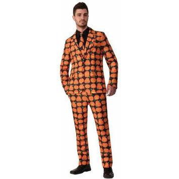 Forum Novelties Men's Halloween Pumpkin Suit & Tie Costume Size Medium