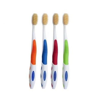 Mouth Watchers, Llc Mouth Watchers Antimicrobial Toothbrush with Flossing Bristles, 4-pack