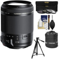 Tamron 18-200mm f/3.5-6.3 Di II VC Zoom Lens (for Canon EOS Cameras) with 3 UV/CPL/ND8 Filters + Tripod + Pouch + Kit