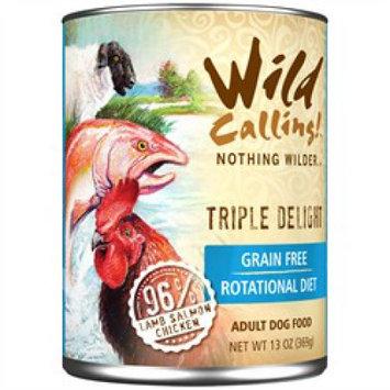 Wild Calling Triple Delight Formula Canned Dog Food 13 oz. (Case of 12)
