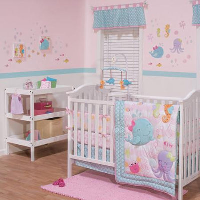 Belle Sea Sweetie 3-pc. Crib Bedding Set (Blue)