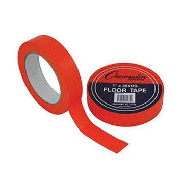 Champion Sports Floor Tape, 1in. x 108ft, Orange