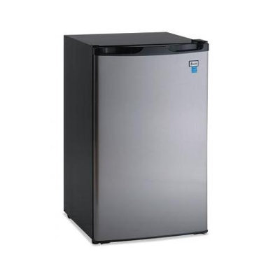 Avanti 4.4 Cu Ft Refrigerator, Black/Stainless Steel