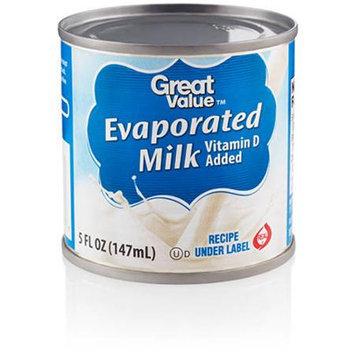 Great Value: Evaporated Milk, 5 Oz