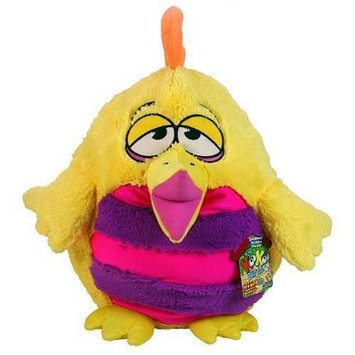 Jay At Play KooKoo Birds Orange Crested Bug Eyed Fezziwig Daddy Bird + Sound Stuffed Animal