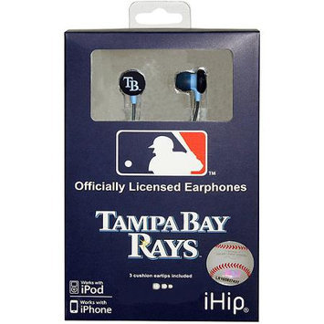Ihip Mlf10169TB Tampa Bay Rays Earbuds Mlb Printed Logo