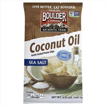 Boulder Canyon Natural Foods KETTLE CHIP, CNUT OIL, SSLT, (Pack of 12)
