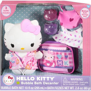 Sanrio Hello Kitty Bubble Bath Decanter Set with 3 Outfits & 2 Fizzies