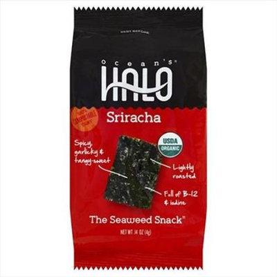 Ocean's Halo Oceans Halo 0.14 oz. Seaweed Snack - Sriracha - Case Of 30