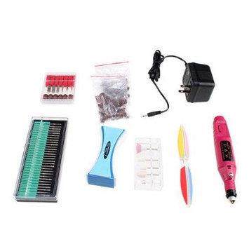 Agptek Pen Shape Electric Manicure Nail Art Drill File for Sharpening Sanding Polishing Drilling + 6 Bit Black
