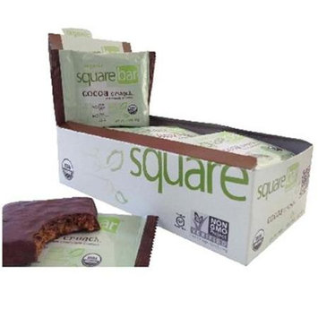 Squarebar BG18431 Squarebar Chocolate Cvr Crunch - 12x1.7OZ
