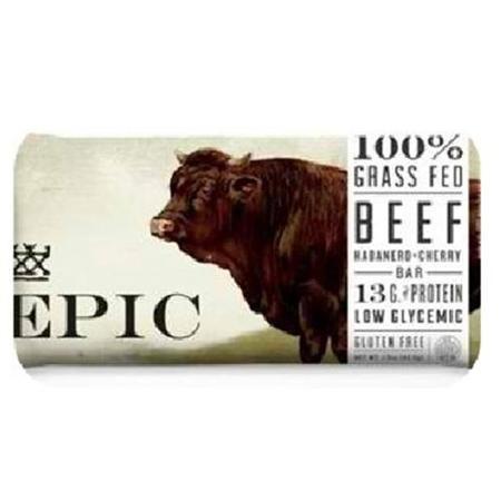 Epic Bar Bars Beef Habanero Cherry, 12 Pack