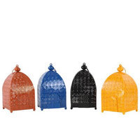 Urban Trends 4 Piece Metal Moroccan Lantern Set