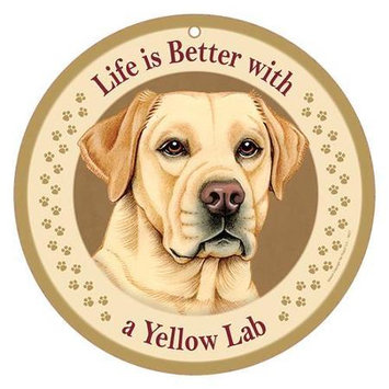 Sjt Enterprises Life Is Better Breed Plaque Yellow Lab