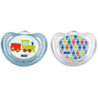 Babies R Us NUK Airflow Orthodontic Pacifier 6-18 Months, 2 Pack - Aqua/Clear