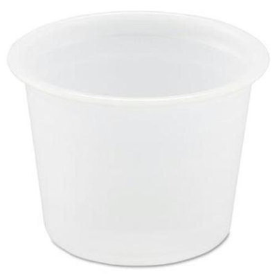 SOLO Cup Company Polystyrene Portion Cups, 1oz, Translucent, 250/Bag, 20 Bags/Carton