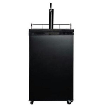 Midea WHS199BB1 4.9 cu. ft. Single Door Kegerator Beer Refrigerator - Black