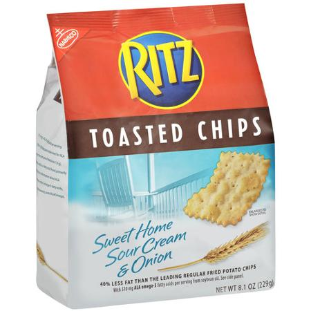 Ritz Toasted Chips Sweet Home Sour Cream & Onion