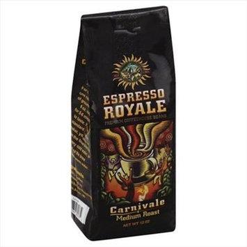 Espresso 12 oz. Carnivale Medium Roast Coffee Beans - Case Of 6