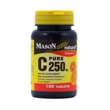 Mason Natural, Vitamin C 250 mg, 100 Tablets