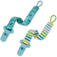 Born Free Pacifier Holder - 2 pack - Blue