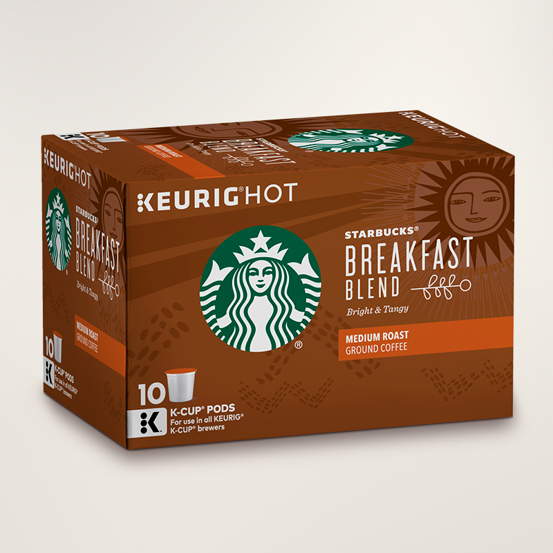 STARBUCKS® Breakfast Blend Bright & Tangy K-Cups® Pods