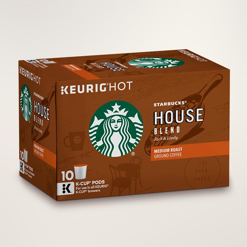 STARBUCKS® House Blend Rich & Lively K-Cups® Pods