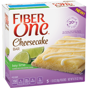 Fiber One Key Lime Cheesecake Bar