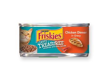 Friskies® Tasty Treasures Chicken Dinner In Gravy Accented With Real  Bacon