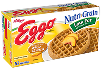 Kellogg's Eggo Nutri-Grain Low Fat Whole Wheat Waffles