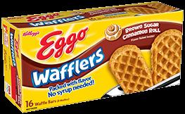 Kellogg's Eggo Wafflers Brown Sugar Cinnamon Roll Waffle