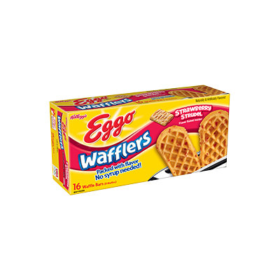 Kellogg's Eggo Wafflers Strawberry Strudel Waffle