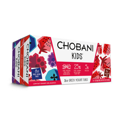 Chobani kids® Mixed Berry And Strawberry Low-fat Yogurt Tubes